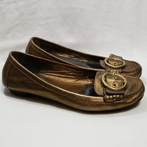 Coach Metallic Gold Karly Loafer 10
